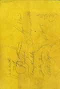 Autographs:Others, 1961 New York Yankees Signed Program with Mantle & Maris. Asthe Yankees rolled into Baltimore in late April of 1961, the h...