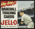 Autographs:Others, Mickey Mantle Signed 1962-63 Jello Advertising Poster. Tremendously rare and desirable in its unsigned state (one of the fe...