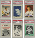 Autographs:Sports Cards, Hank Greenberg Signed Trading Cards Lot of 6. The greatest sluggerof the Jewish faith ever to swing a bat, and one of the g...(Total: 6 cards)