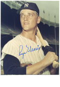 Autographs:Photos, Roger Maris Signed Photograph. The ultimate Roger Maris photographwith the ultimate blue sharpie signature. The hero of 1...