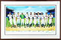 Autographs:Others, 500 Home Run Club Signed Lithograph. While the instantlyrecognizable Ron Lewis artwork will bring to mind the morecommonl...