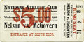 """Boxing Collectibles:Memorabilia, 1906 Battling Nelson vs. Terry McGovern Full Ticket. On March 14, 1906 World Lightweight Champion Battling Nelson fought """"Te..."""