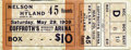 Boxing Collectibles:Memorabilia, 1909 Battling Nelson vs. Dick Hyland Full Ticket. Battling Nelson fought Dick Hyland on May 29th, 1909 in defense of his Wor...