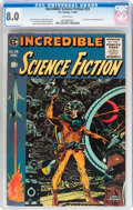 Golden Age (1938-1955):Science Fiction, Incredible Science Fiction #33 (EC, 1956) CGC VF 8.0 Whitepages....