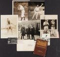Baseball Collectibles:Photos, 1920's-50's Irish Meusel National League Lifetime Pass &Photographs Lot of 9....