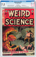 Golden Age (1938-1955):Science Fiction, Weird Science #21 (EC, 1953) CGC VF- 7.5 White pages....