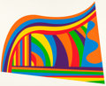 Prints:Contemporary, SOL LEWITT (American, 1928-2007). Arcs and Bands in Color,1999. Screenprint in colors. 30-1/4 x 38 inches (76.7 x 96.5 ...