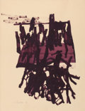 Post-War & Contemporary:Contemporary, JAMES BROOKS (American, 1906-1992). Untitled, 1961. Gouacheon paper. 28 x 22 inches (71.1 x 55.9 cm). Signed and dated ...