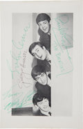 Music Memorabilia:Autographs and Signed Items, Beatles Signed Photo from a UK Tour Programme (Summer 1963)....