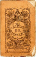 Books:Americana & American History, [Almanacs] Robert B. Thomas. The Old Farmer's Almanac.Worcester: Edward Mellen, Jr., 1861. Original printed wrapper...
