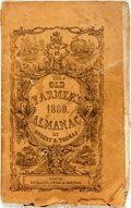 Books:Americana & American History, [Almanacs] Robert B. Thomas. The Old Farmer's Almanac.Boston: Hickling, Swan, & Brewer, 1860. Original printedwrap...
