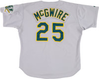 cheap for discount 2aeaa 582ab 1993 Mark McGwire Game Worn Oakland Athletics Jersey ...