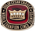 Boxing Collectibles:Memorabilia, 1992 Julio Cesar Chavez Five-Time Championship Ring Presented to Entourage Member....