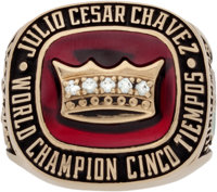1992 Julio Cesar Chavez Five-Time Championship Ring Presented to Entourage Member