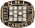 Hockey Collectibles:Others, 1989 Wayne Gretzky Sets NHL Scoring Record Commemorative Ring....