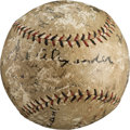 Autographs:Baseballs, 1925 Chicago Cubs Team Signed Baseball....