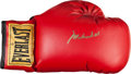 Boxing Collectibles:Autographs, 1990's Muhammad Ali Signed Boxing Glove & Book. ...