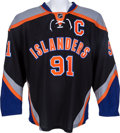 Hockey Collectibles:Uniforms, 2013-14 John Tavares Game Worn New York Islands Jersey....