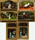 Miscellaneous:Postcards, [Postcards] Group of Six Postcards with Gilt Borders. Circa 1910.Some used. A bit of soiling and rubbing. Very good. From...