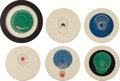 Prints:European Modern, MARCEL DUCHAMP (French, 1887-1968). Rotoreliefs (sixdouble-sided works), 1935/1953. Offset lithographs in colorprinted... (Total: 8 Items)