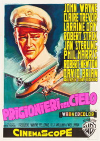 "The High and the Mighty (Warner Brothers, 1954). Italian 4 - Foglio (55"" X 78"")"