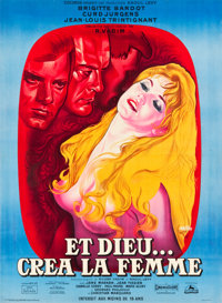 "And God Created Woman (Cocinor, 1956). Full-Bleed French Grande (46"" X 62.5"")"