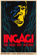 "Movie Posters:Adventure, Ingagi (Boston Films, 1931). German Poster (37.5"" X 55.5"").. ..."