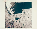 """Autographs:Celebrities, Neil Armstrong Signed Original NASA """"Red Number"""" Lunar SurfaceColor Photo. ..."""
