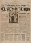 Autographs:Celebrities, Neil Armstrong Signed Wapakoneta Daily News Dated July 21,1969....