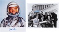 Autographs:Celebrities, Mercury Seven Astronauts: Washington, D.C. Photo Signed by Three with Spacesuit Photo Signed by Glenn.... (Total: 2 )