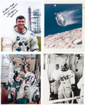 """Autographs:Celebrities, Fred Haise: Four Signed Photos Including a Vintage """"Red Number""""Example...."""
