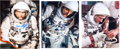 Autographs:Celebrities, Tom Stafford: Three Signed Gemini-Related Color Photos....