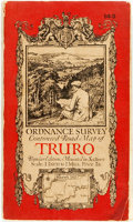Books:Maps & Atlases, [Maps]. Ordnance Survey Contoured Road Map of Truro.Southampton: Ordnance Survey Office, 1924. Popular edition. Fro...