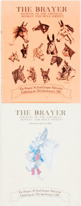 Books:Periodicals, [Periodicals]. Two Issues of The Brayer. Journal of the AmericanDonkey and Mule Society, Vols. 2 and 6, 2002. Publi... (Total:2 Items)