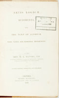 Books:Philosophy, H.L. Mansel. Artis Logicae Rudimenta, from the Text of Aldrich, With Notes and Marginal References. Oxford: Henry Ha...