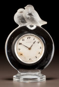Art Glass:Lalique, R. LALIQUE CLEAR AND FROSTED GLASS PIERROTS CLOCK. Circa 1931. Stenciled R. LALIQUE, FRANCE. M p. 378, No. 766...