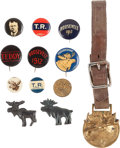 Political:Pinback Buttons (1896-present), Theodore Roosevelt: Bull Moose Campaign Buttons....
