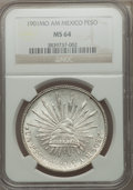 Mexico, Mexico: Republic Peso 1901 Mo-AM MS64 NGC,...