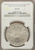 Mexico, Mexico: Republic 8 Reales 1851 Do-JMR AU58 NGC,...