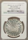 Mexico, Mexico: Republic 8 Reales 1884 Mo-MH UNC Details (SurfaceHairlines) NGC,...