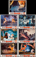 "Movie Posters:Animation, Bambi (Buena Vista, R-1957). Lobby Cards (7) (11"" X 14""). Animation.. ... (Total: 7 Items)"