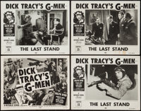 "Dick Tracy's G-Men (Republic, R-1955). Lobby Card Set of 4 (11"" X 14"") Chapter 15 --""The Last Stand.""..."
