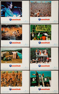 "Movie Posters:Rock and Roll, Woodstock (Warner Brothers, 1970). Lobby Card Set of 8 (11"" X 14"").Rock and Roll.. ... (Total: 8 Items)"