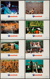 """Woodstock (Warner Brothers, 1970). Lobby Card Set of 8 (11"""" X 14""""). Rock and Roll. ... (Total: 8 Items)"""