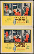 """Movie Posters:Bad Girl, Wicked Woman & Others Lot (United Artists, 1953). Title LobbyCards (2) (11"""" X 14"""") & One Sheets (2) (27"""" X 41""""). BadGirl.... (Total: 4 Items)"""