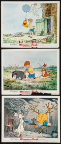 "Movie Posters:Animated, Winnie the Pooh and the Honey Tree & Others Lot (Buena Vista, 1966). Lobby Cards (3) (11"" X 14""), Military One Sheet & One S... (Total: 5 Items)"