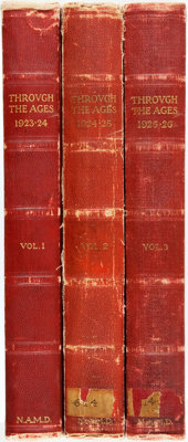 [Bound Periodical]. Through the Ages, No. 1, Vols. I-III. Cleveland: National Association of Ma