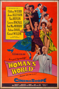 "Woman's World (20th Century Fox, 1954). Poster (40"" X 60"") Style Y. Drama"