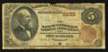 National Bank Notes:Pennsylvania, Pittsburgh, PA - $5 1882 Brown Back Fr. 477 The Bank of Pittsburgh, National Assoc Ch. # 5225. ...