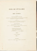 Books:Biography & Memoir, Drake, Nathan. Shakespeare And His Times: Including TheBiography. of the Poet; Criticisms on His Genius and W...(Total: 2 Items)